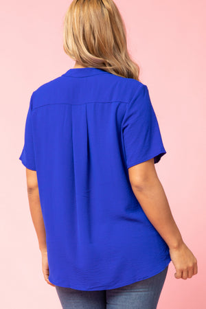 Royal Blue Top (Plus Size)