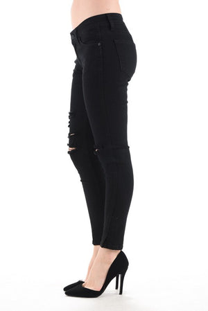 Black Ripped Kan Can Jeans - EmmyLou Boutique