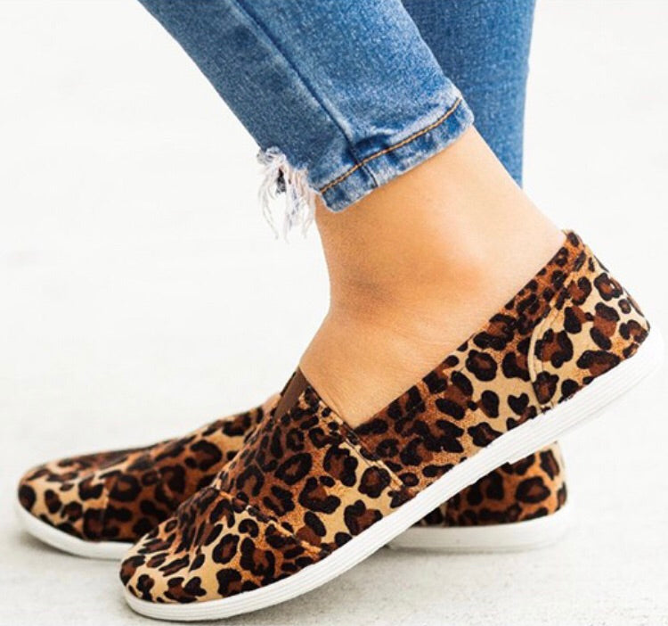 Leopard Casual Slip-On Shoes