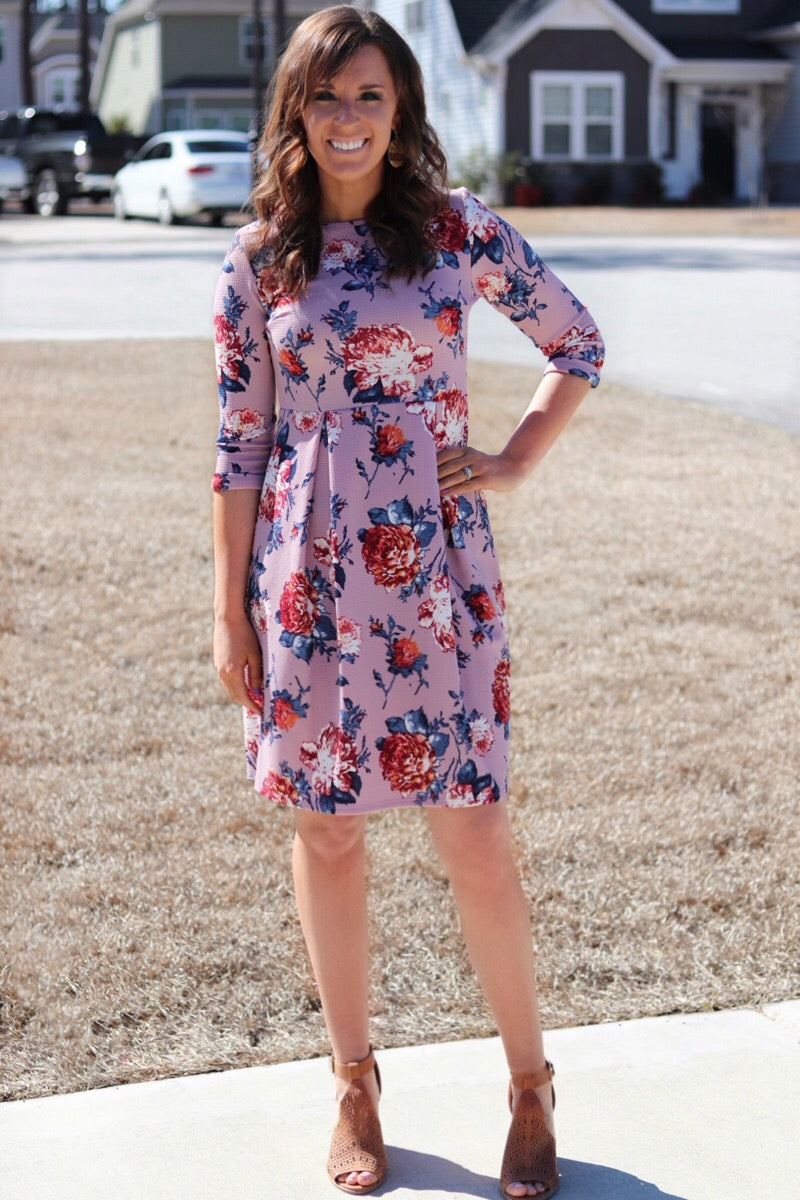 Floral Knit Dress - EmmyLou Boutique