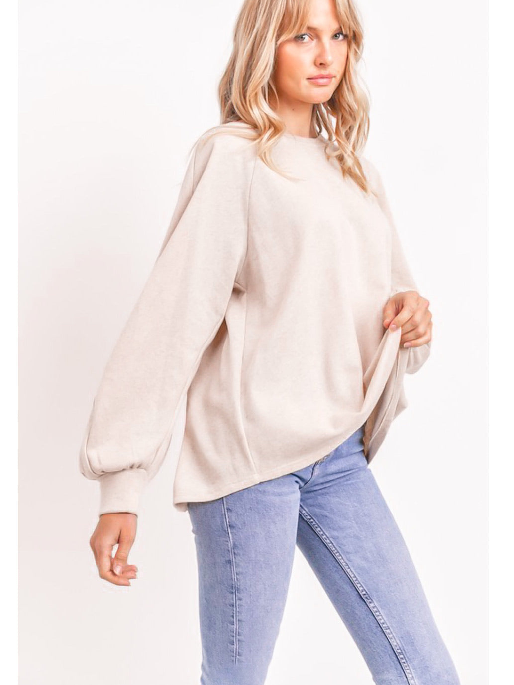 Cozy Cotton Terry Knit Top
