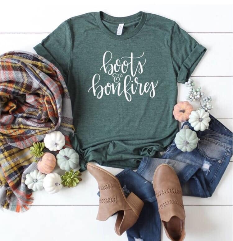 Boots & Bonfires Graphic Tee
