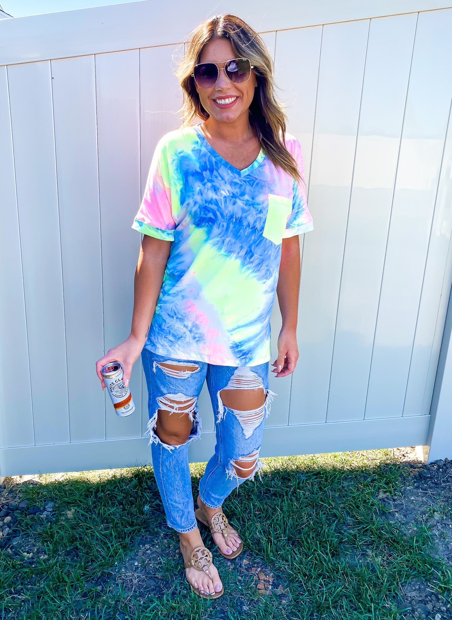 Pocket Tie Dye Top