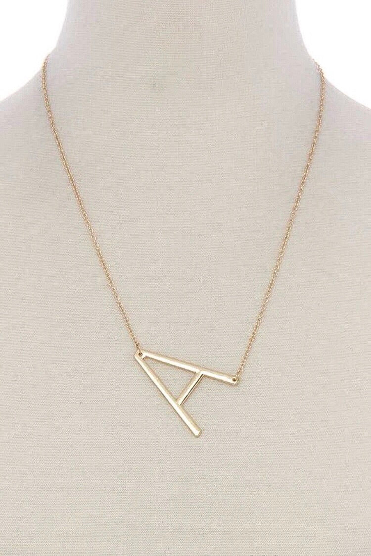 Letter Pendant Necklace