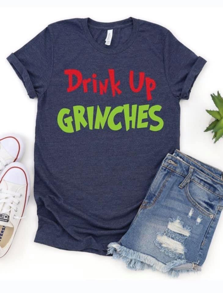 Drink Up Grinches (Heather Navy)