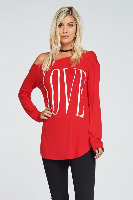 Valentine's Day LOVE top - EmmyLou Boutique