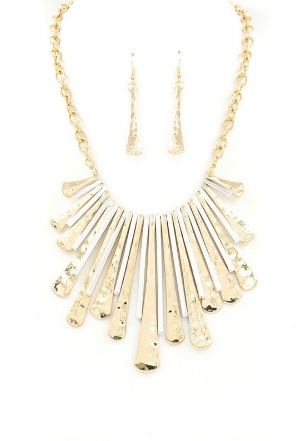 Gold/Silver Bib Necklace