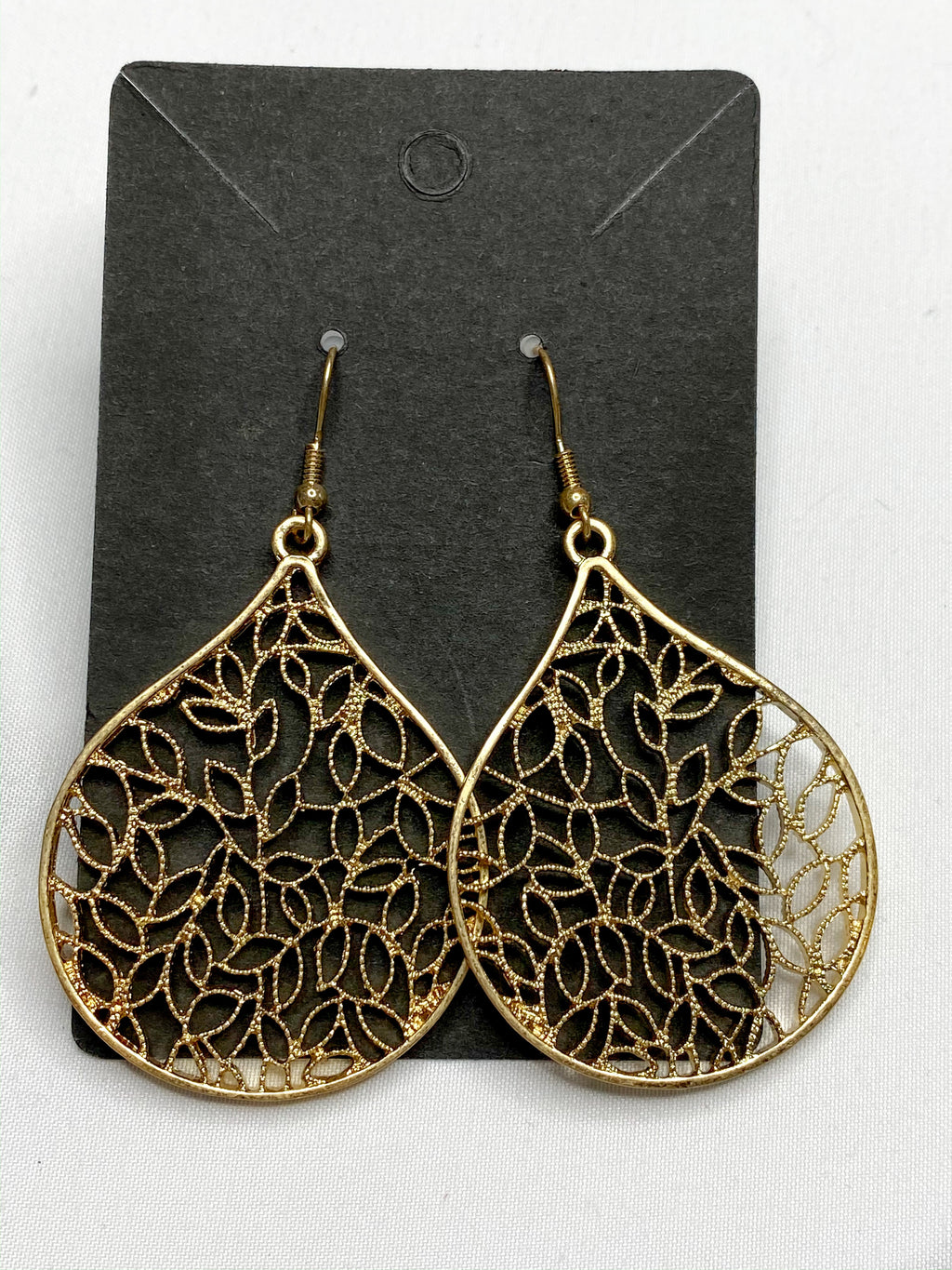 Worn Gold Leaf Earrings