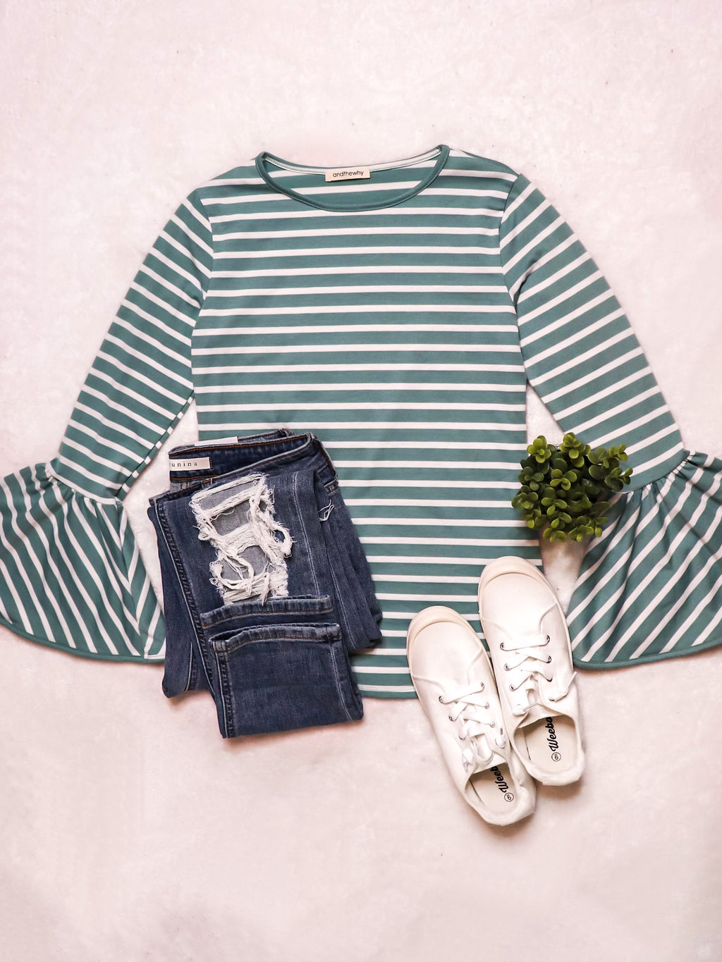 Mint Bell Sleeve Top