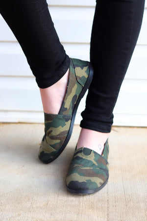 Camo Casual Slip-On Shoes