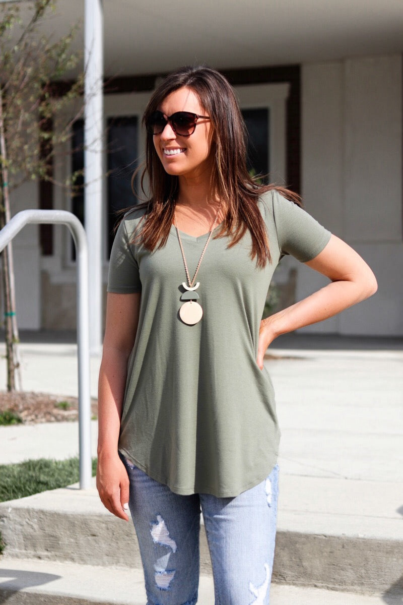 Light Olive Relaxed Top