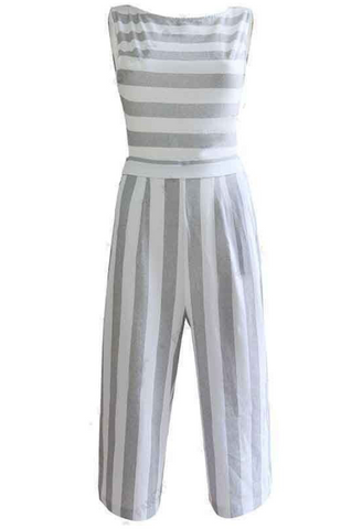 striped jumpsuite