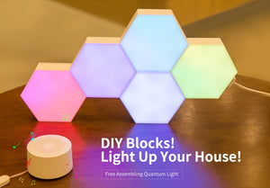 Geometry Assembly Smart APP Control Google Home Amazon Alexa Lamp Lifesmart