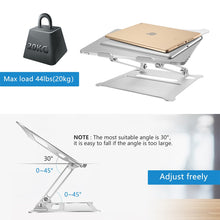 Load image into Gallery viewer, Adjustable Aluminum Laptop Stand