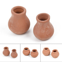 Load image into Gallery viewer, 2Pcs Small Mini Terracotta Pots
