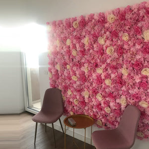 Silk Rose Wall Decoration