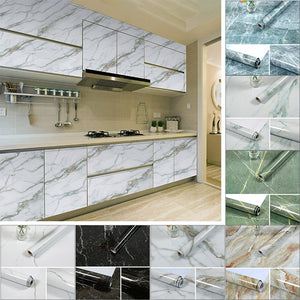 Kitchen Marble Contact Paper PVC
