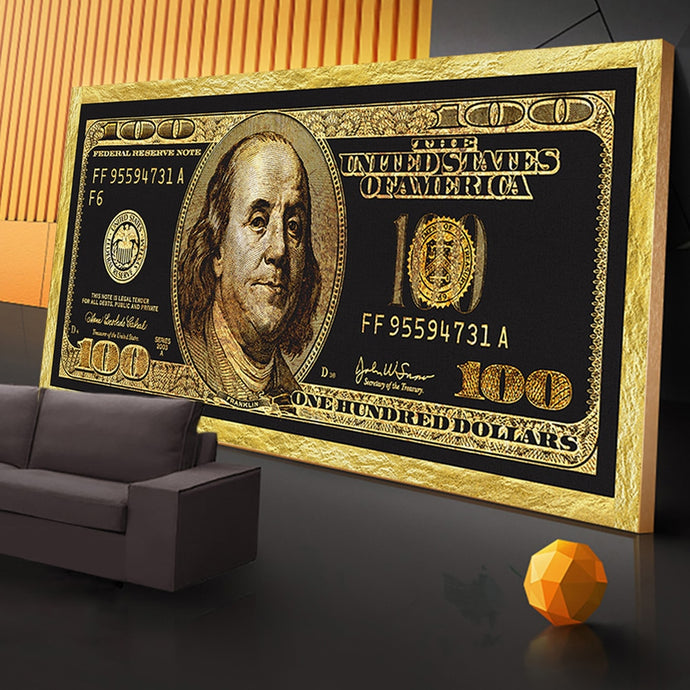 Golden Dollar Inspirational Canvas Posters