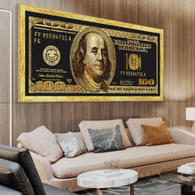 Load image into Gallery viewer, Golden Dollar Inspirational Canvas Posters