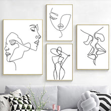 Load image into Gallery viewer, Minimalist Figures Line Art