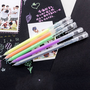 9Pcs/lot 0.6mm Gel Pen Stationery
