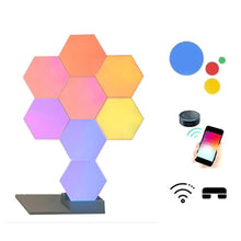 Load image into Gallery viewer, Geometry Assembly Smart APP Control Google Home Amazon Alexa Lamp Lifesmart