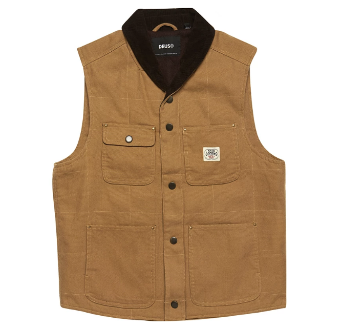 Earl Canvas Vest - Driftwood Tan