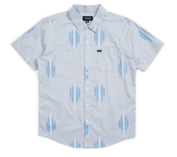 Charter Print Shirt - Light Blue/Blue