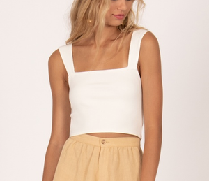 Easy Love Knit Top - Casa Blanca