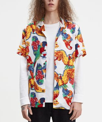 Cubano Shirt - Parrots Brilliant