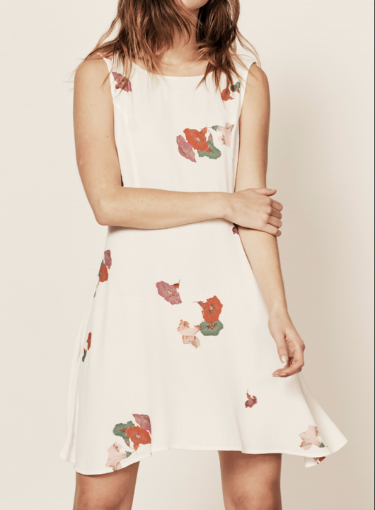 Jasmine Dress - White Yard Floral