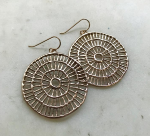 Shimmering Sun Earrings - Bronze