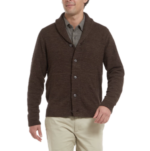 Avalon Shawl Cardigan - Chocolate Marl