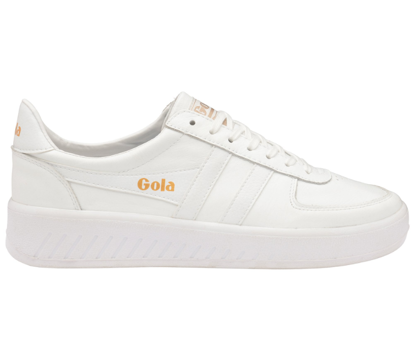 Men's Grandslam Leather Trainer - White/White