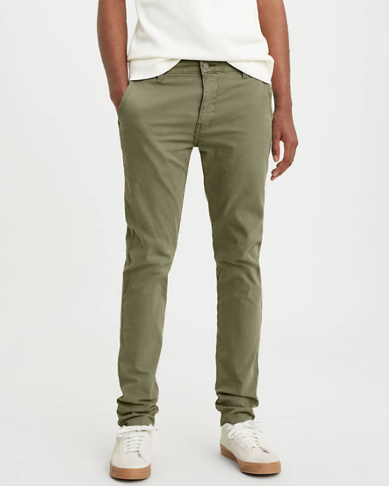 XX Chino Slim Fit Pants - Bunker Olive Green