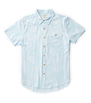 Marten Shirt - Light Blue Frond Print
