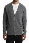 Merino Wool Cardigan - Grey