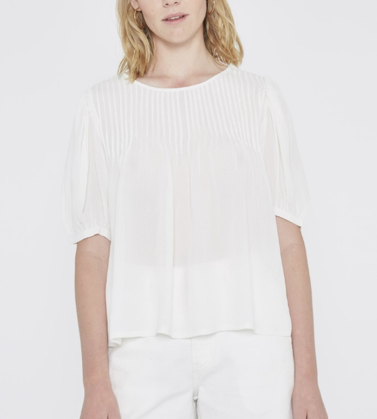 Darted Top - White