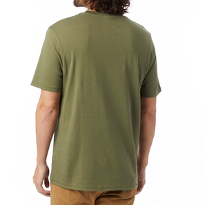 Outsider Heavy Wash Tee - Army Green