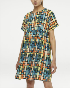 Multicoloured Check Dress - Multi