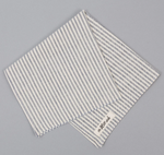 Mills Natural Warp Pocket Square - Hickory Stripe