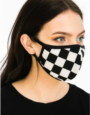 Reusable Face Mask - Checker Print