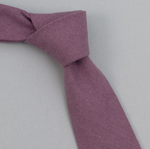 Linen/Cotton Oxford Tie - Purple