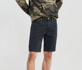 511 Slim Hemmed Short - Panel Black Short