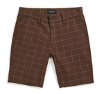 Toil II Short - Brown Plaid