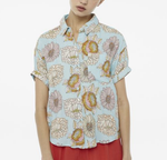 Fine Floral Shirt - Light Blue