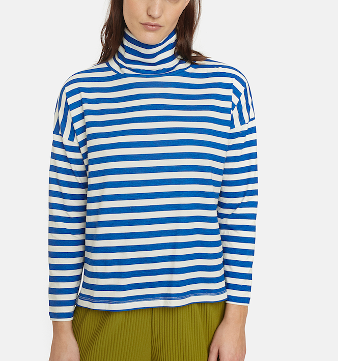 Malaita Turtleneck - Blue/White
