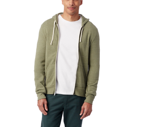 Rocky Zip Hoodie - Eco True Army Green