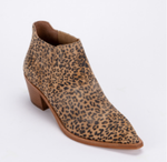 Shana Booties - Tan/Black Dusted Leopard Suede