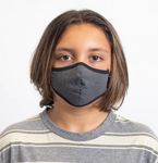 Youth Antimicrobial Face Mask - Grey Herringbone